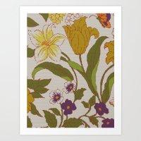 Flower Knit Art Print