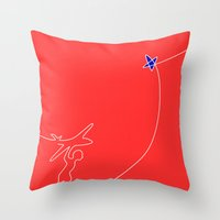Fly higher Throw Pillow