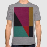 Red Triangle Mens Fitted Tee Athletic Grey SMALL