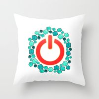 Reset! Throw Pillow