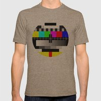 TV Mens Fitted Tee Tri-Coffee SMALL