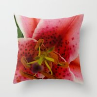 A Lily Of The Valley Throw Pillow