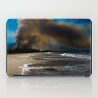 Brush fire and the beach  iPad Case