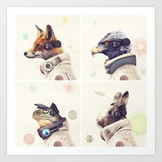 Star Team - Legends of Lylat Art Print