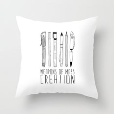 weapons of mass creation Throw Pillow