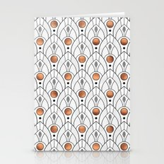 Art Deco Leaves / Version 2 Stationery Cards