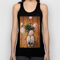 Flowers and Shoes. Unisex Tank Top