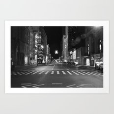 Christmas Time in The City Art Print