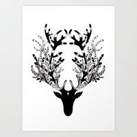 Deer, oh dear Art Print