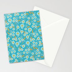 Floral mix blue white Stationery Cards