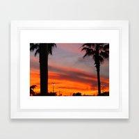 Florida Sky. Framed Art Print