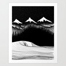 Night Surf Art Print