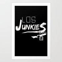 los junkies del barrio Art Print