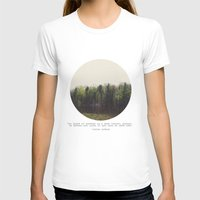 Dark Forest Womens Fitted Tee White SMALL