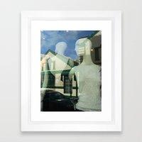Mannequin Window Framed Art Print