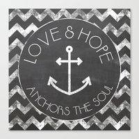 Chalkboard - Love And Ho… Canvas Print