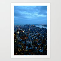 The City That Never Slee… Art Print