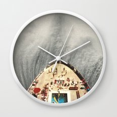 a great big wave (to wash it all away) - collab with sammy slabbinck Wall Clock
