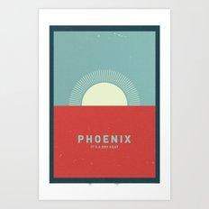 Phoenix Heat Art Print