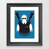 Here Come The Fuzz Framed Art Print