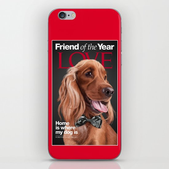 Portrait of an elegant English Cocker Spaniel on a Time Magazine cover iPhone & iPod Skin