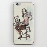 Zebra Girl iPhone & iPod Skin