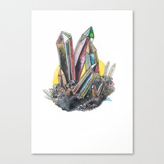 Rainbow Metallic Crystals Canvas Print