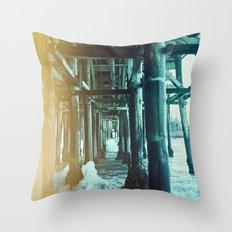 Under the Pier.  Throw Pillow