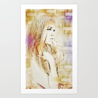 Facet Portrait Art Print