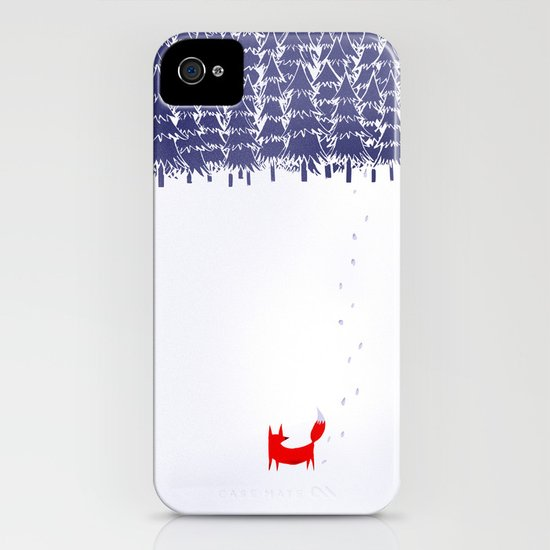 Alone in the forest iPhone & iPod Case