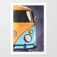 car Art Prints featuring car  by mark ashkenazi