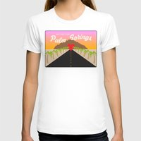 GREETINGS FROM PALM SPRI… Womens Fitted Tee White SMALL