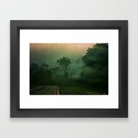 Jump in to the Fog Framed Art Print