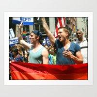 Gay Pride Parade Marcher… Art Print