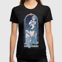 Voice of reason - Sailor Mercury nouveau Womens Fitted Tee Tri-Black SMALL
