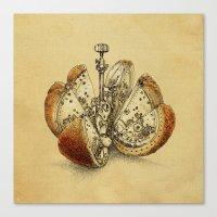 Steampunk Orange (sepia) Canvas Print