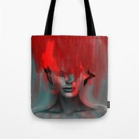 Red Head Woman Tote Bag