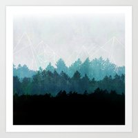 forest Art Prints featuring Woods Abstract  by Mareike Böhmer