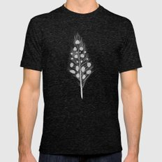 Polka Dotted Feather Mens Fitted Tee Tri-Black SMALL