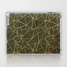 Ab 2 R Black and Gold Laptop & iPad Skin