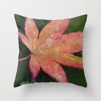 Japanese Maple Leaf 2 Throw Pillow
