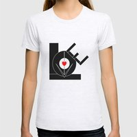 Love In The First Degree Womens Fitted Tee Ash Grey SMALL