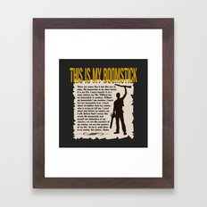 Evil Dead     Army of Darkness / Full Metal Jacket Mashup    This Is My Boomstick Framed Art Print