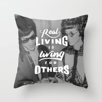 Bruce Says: Real Living Throw Pillow