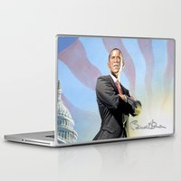 obama Laptop & iPad Skins featuring Barack Obama by StormFront Media