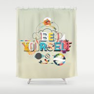 Shower Curtain featuring Be Yourself by Kavan And Co