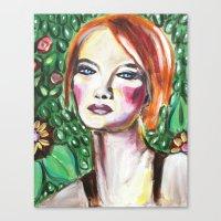 VanGogh Girl Canvas Print