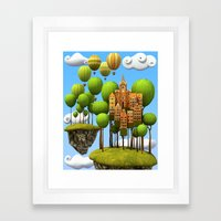 New City in the Sky Framed Art Print