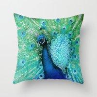 Peacock 2 Throw Pillow