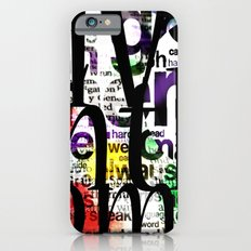 Abstract Text iPhone 6 Slim Case